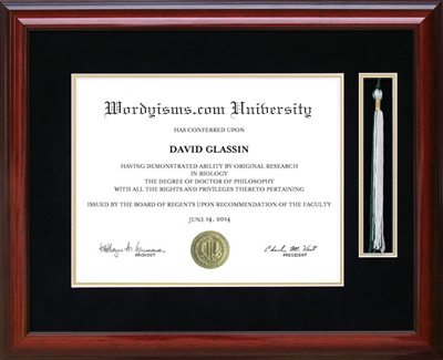 Tassel Diploma Frame In Mahogany Frames Of Achievement