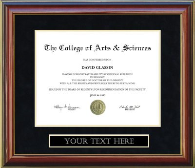 Customizable Diploma Frame Frames Of Achievement