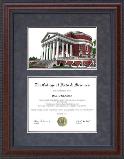 Diploma Frame With University Of Virginia Uva Campus